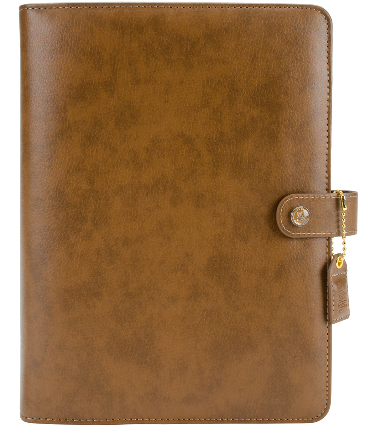 A5 Faux Leather 6-Ring Planner Binder 7.5\u0022X10\u0022-Walnut