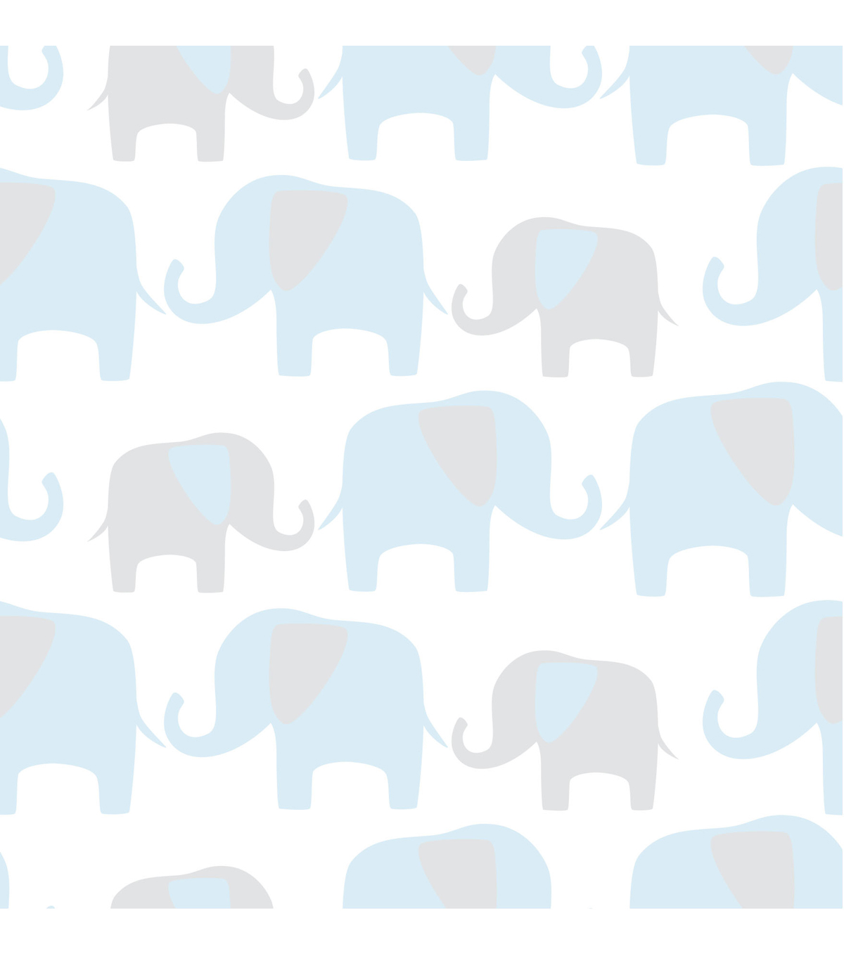 WallPops®NuWallpaper™ Blue Elephant Parade Peel And Stick Wallpaper