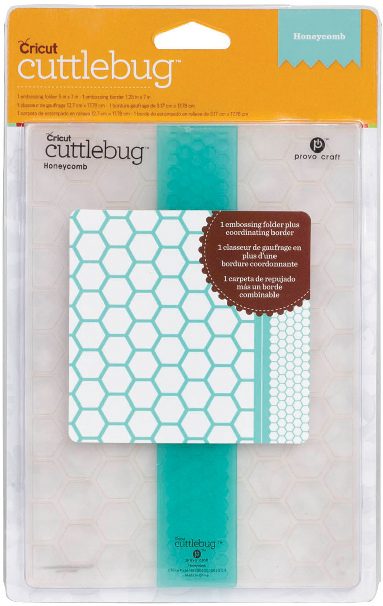 Cuttlebug® 5\u0022x7\u0022 Embossing Folder/Border Set-Honeycomb