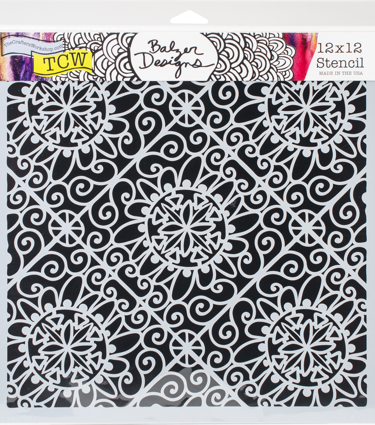 Crafter\u0027s Workshop Julie Fei-Fan Balzer Template 12\u0027\u0027x12\u0027\u0027-Lacy Tiles