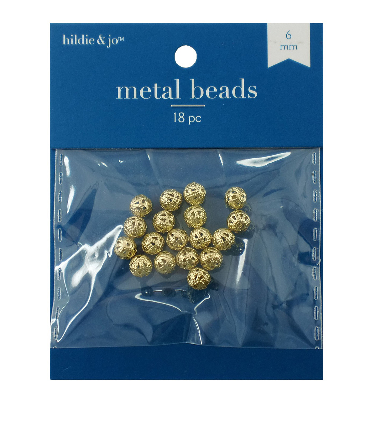 Filagree Ball 6Mm Gold