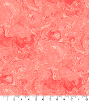 Keepsake Calico™ Cotton Fabric 43\u0022-Coral Oil Slick