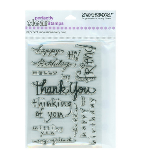 Stampendous Perfectly Clear Stamps-Happy Messages