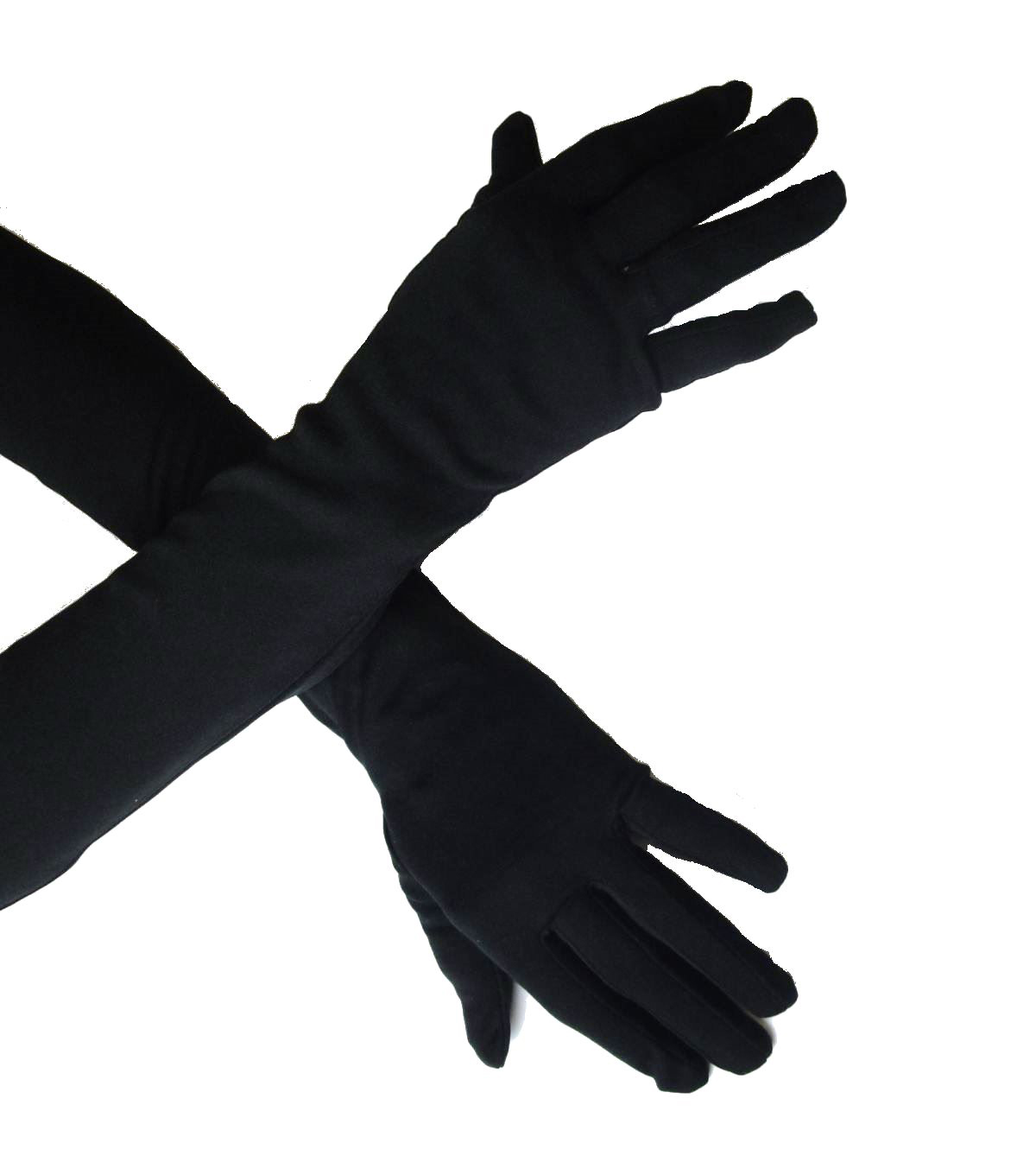 Maker\u0027s Halloween Adult Long Gloves-Black