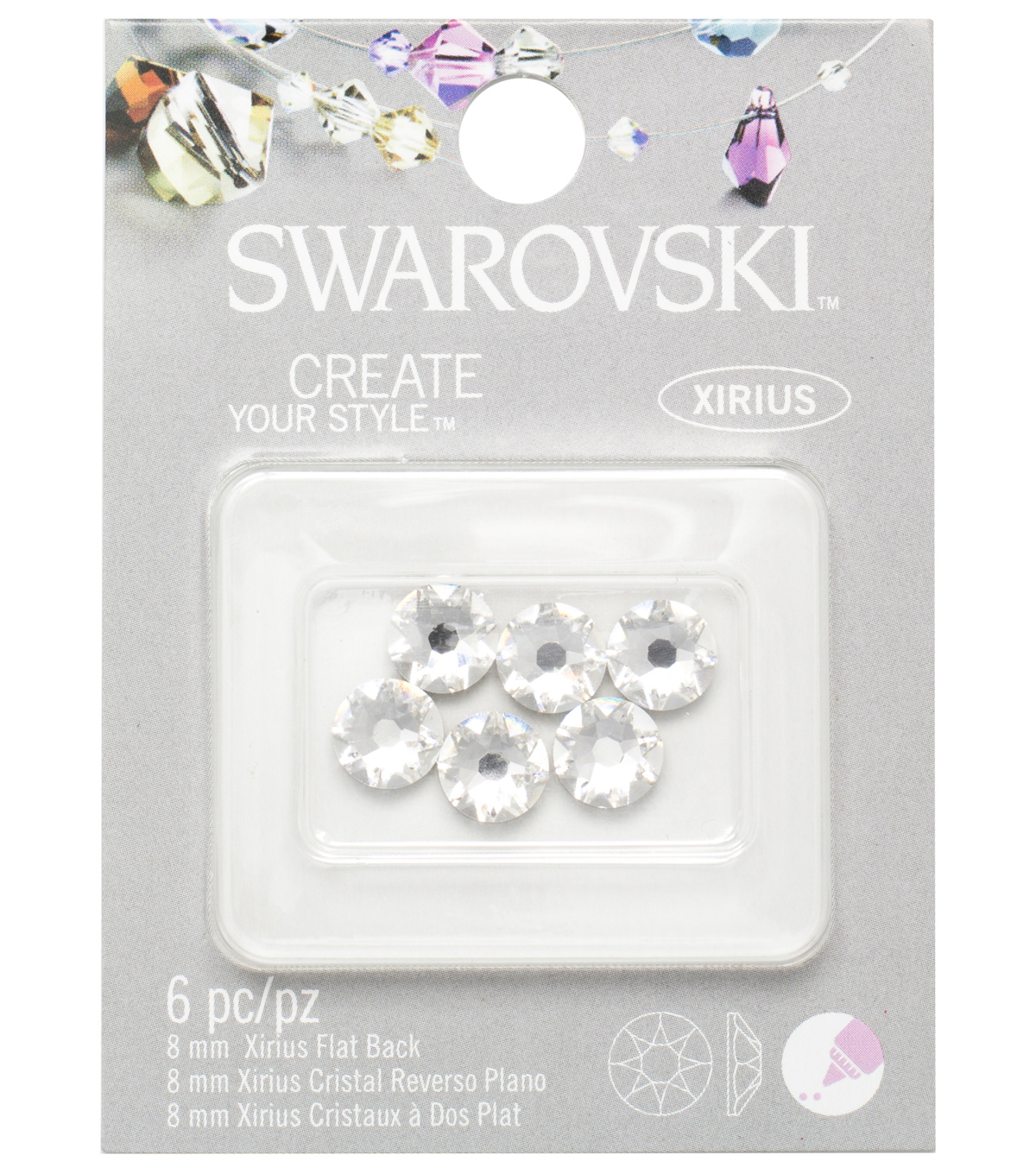 EK Success Create Your Style Swarovski Flatback 8mm Crystal