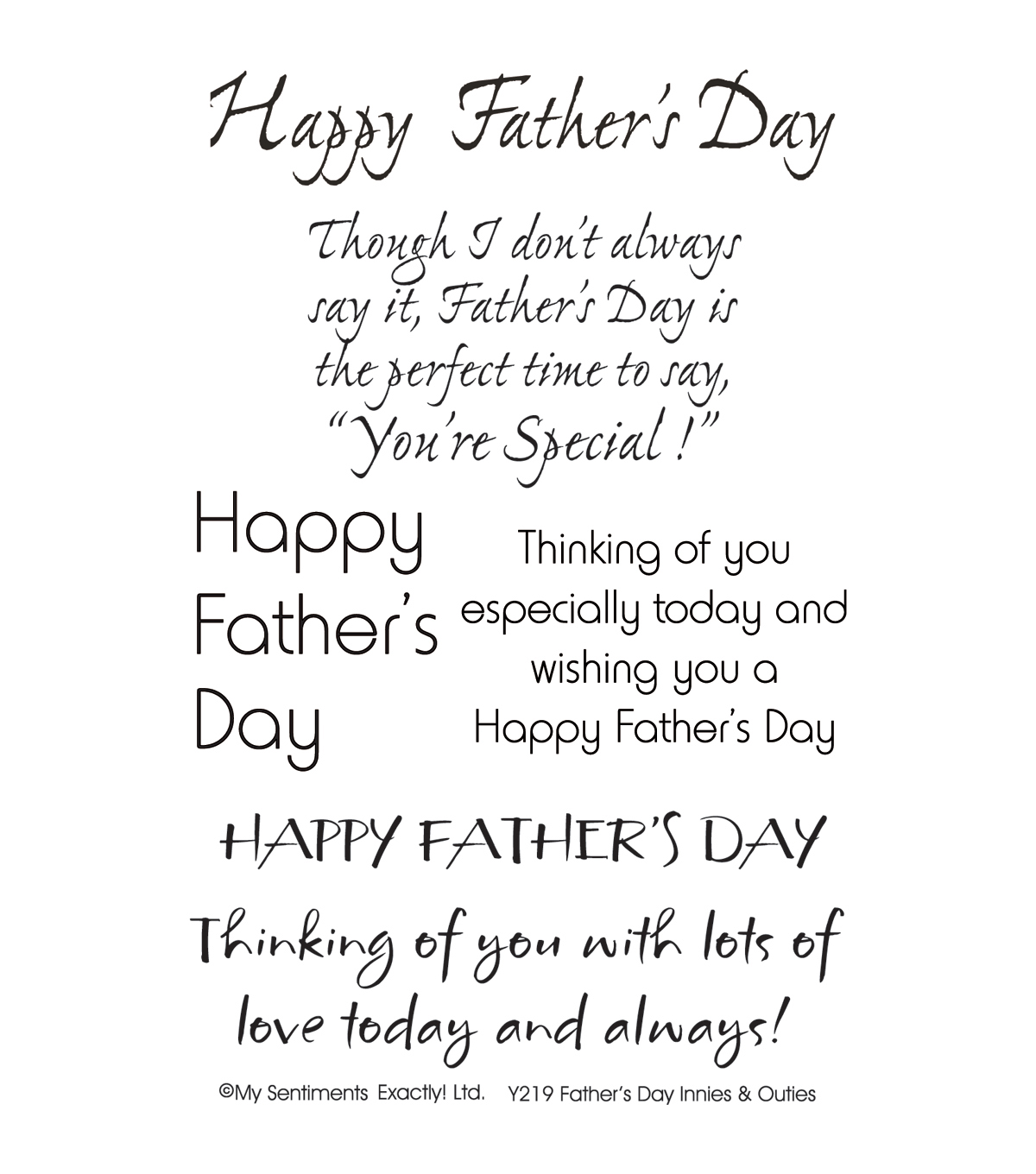 My Sentiments Exactly Clear Stamps 4\u0022X6\u0022 Sheet-Father\u0027s Day