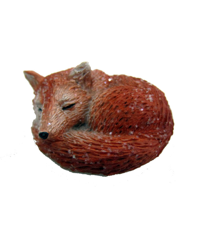 Maker\u0027s Holiday Littles Resin Laying Fox