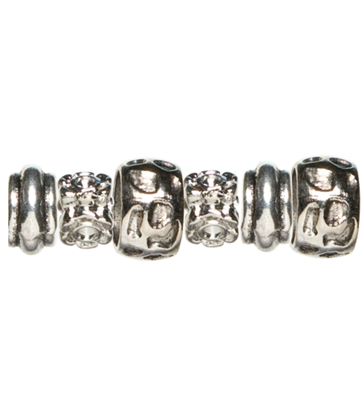 Cousin Trinkettes Metal Beads 6PK-Animal Print