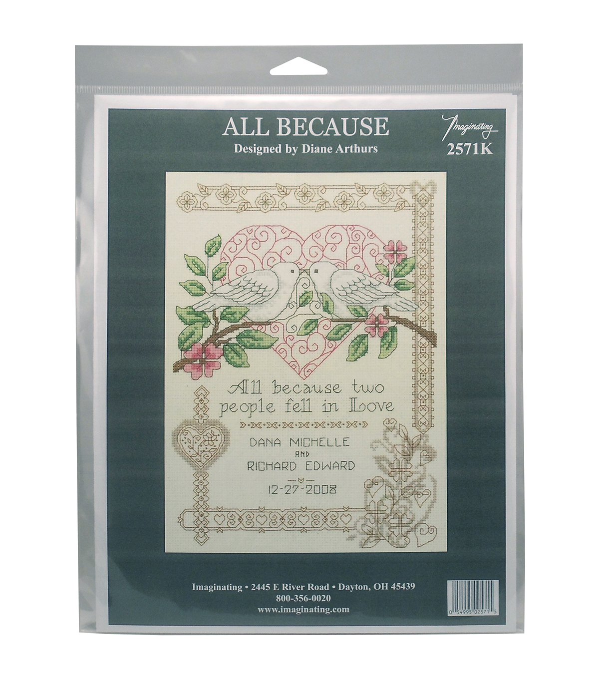 Imaginating All Because Wedding Record Counted Cross Stitch Kit