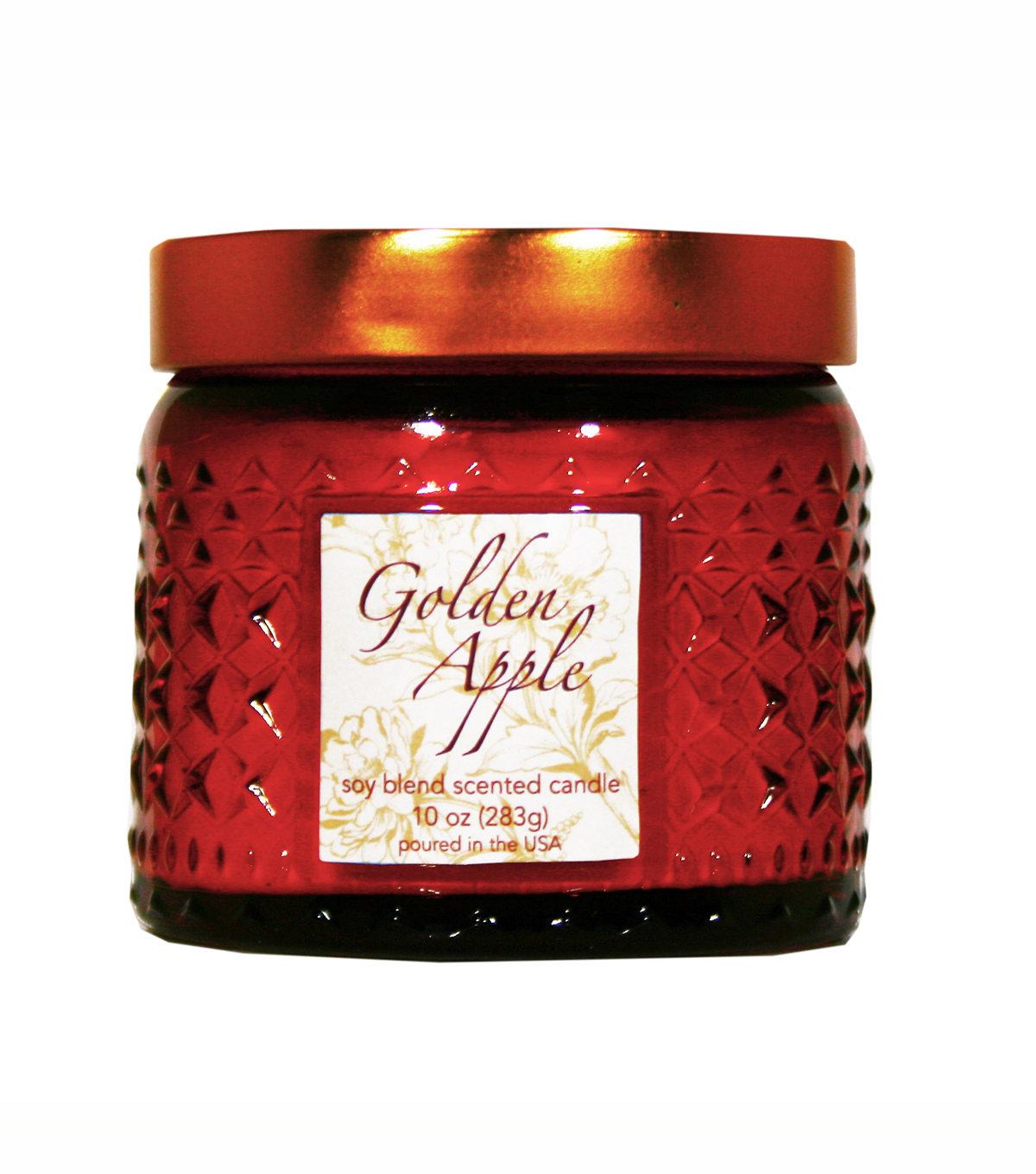 Fall Into Color 10oz. Scented Weave Jar Candle-Golden Apple