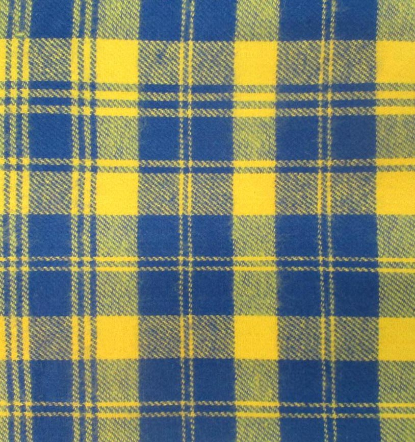 Flannel Shirting Fabric Blue Yellow Flannel Shirting