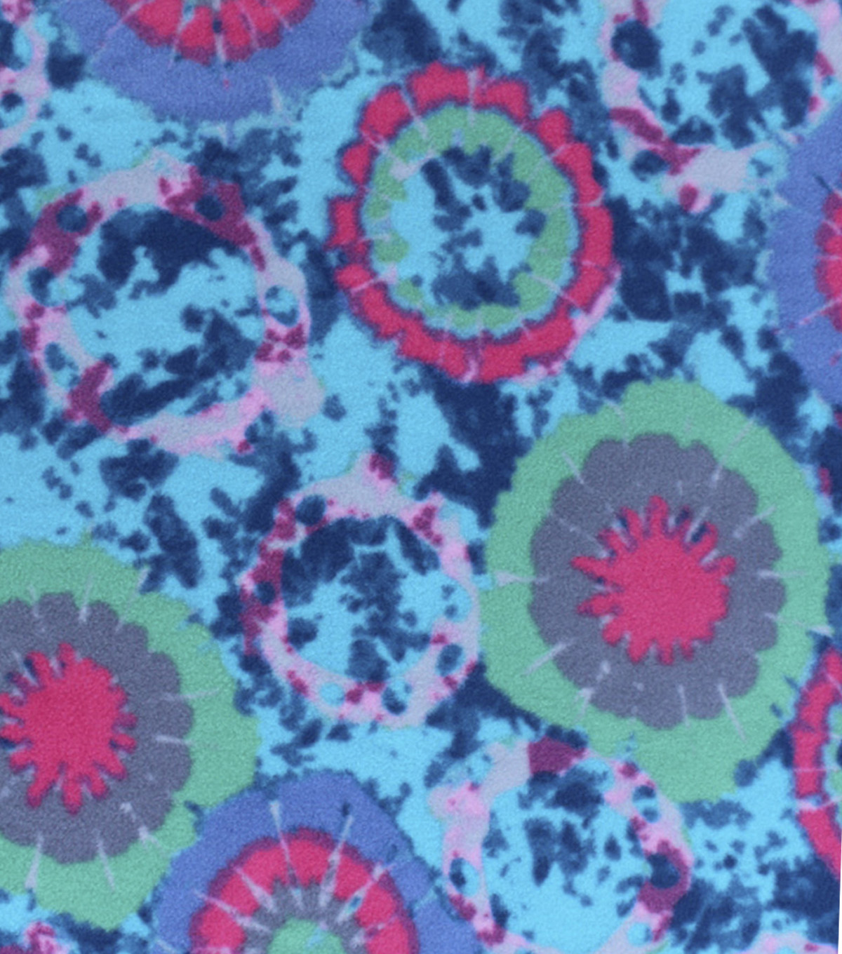 "Anti-Pill Fleece Fabric 59""-Blue Washed Out Tie Dye"