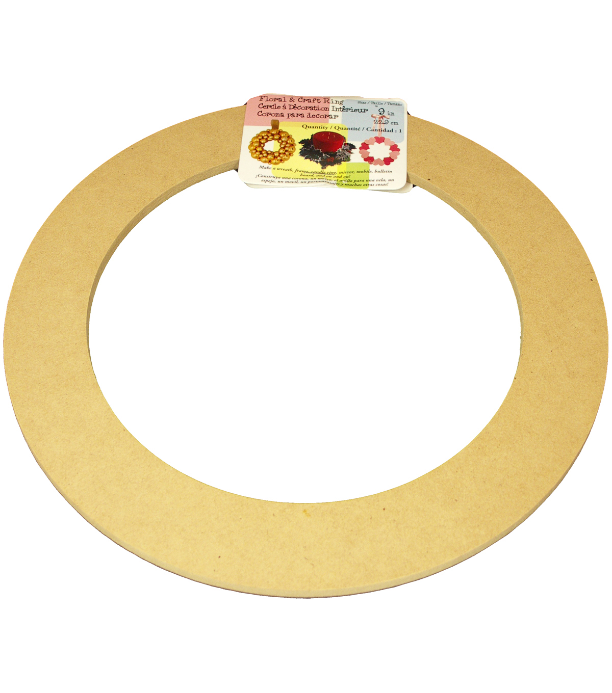 Biodegradable Craft Ring-9""