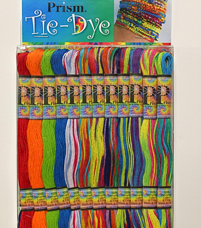 Prism 6 Strand Floss Pack 8 7yd 24 Pkg Tie Dye