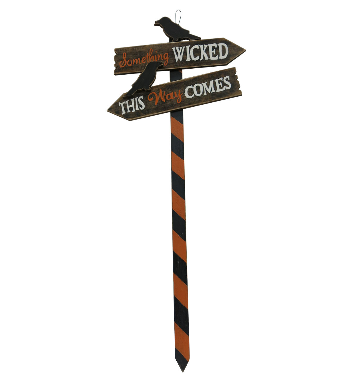 Maker\u0027s Halloween Wood Yard Stake-Something Wicked This Way Comes