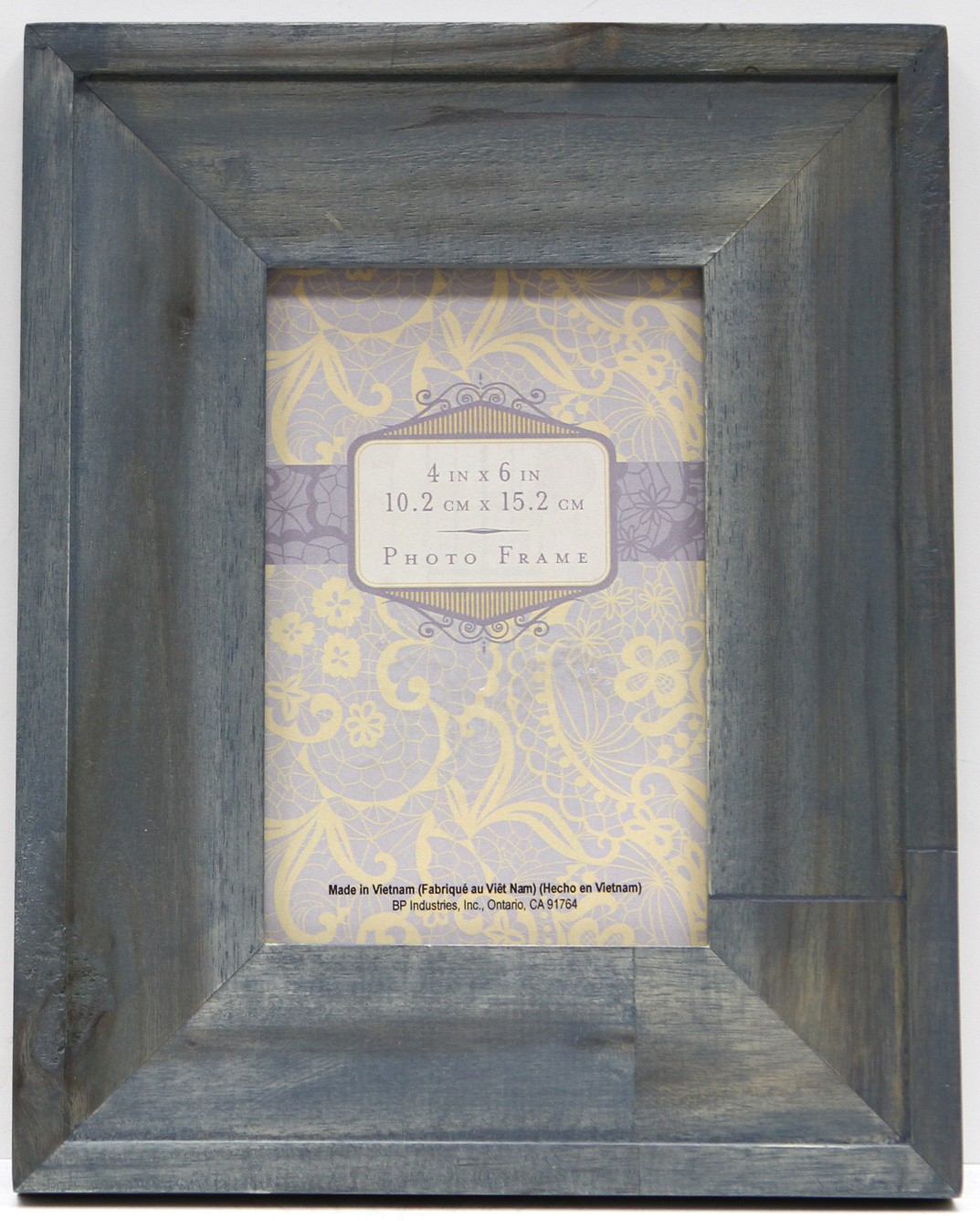 Wide Wood Stain Frame 4X6-Blue