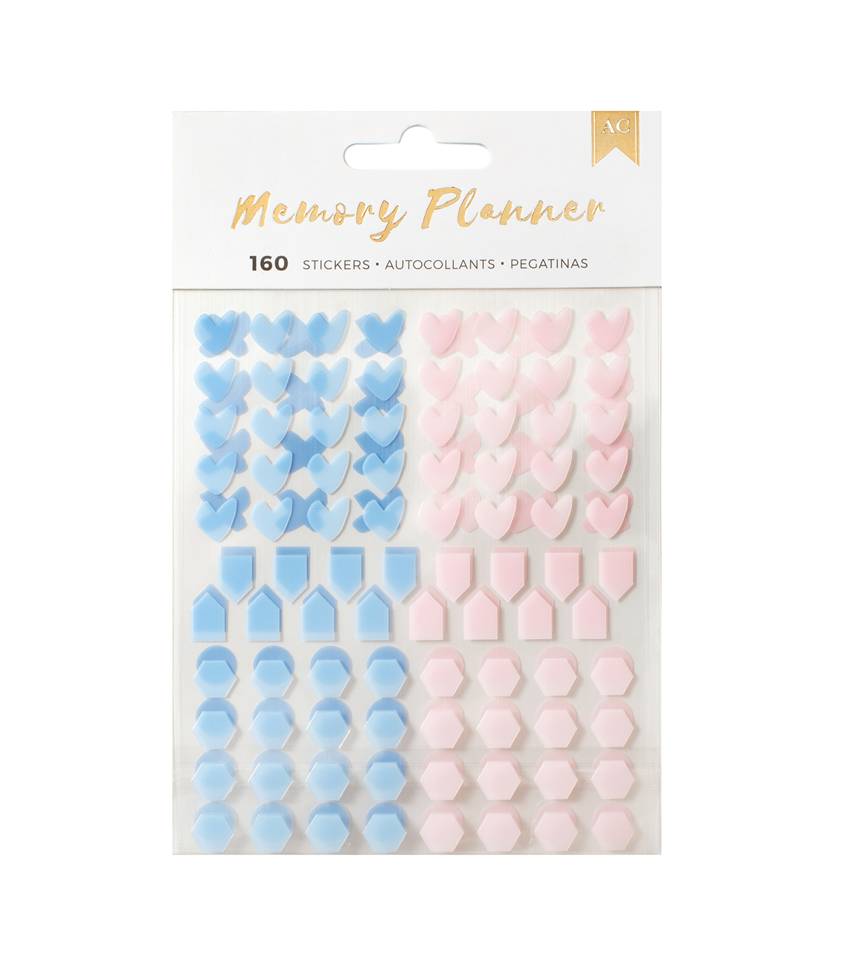 American Crafts™ Memory Planner Date Stickers-Clear