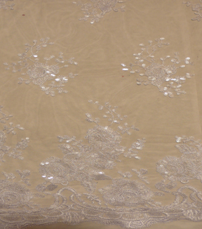 Bridal Inspirations™ Shine Lace Veil Fabric 51''-Bright White