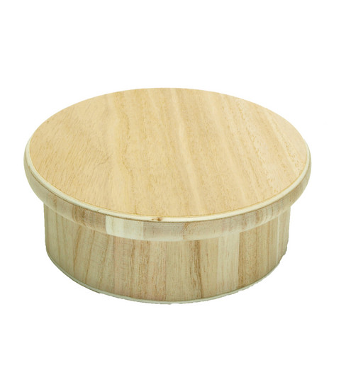 Round Wood Box & Lid