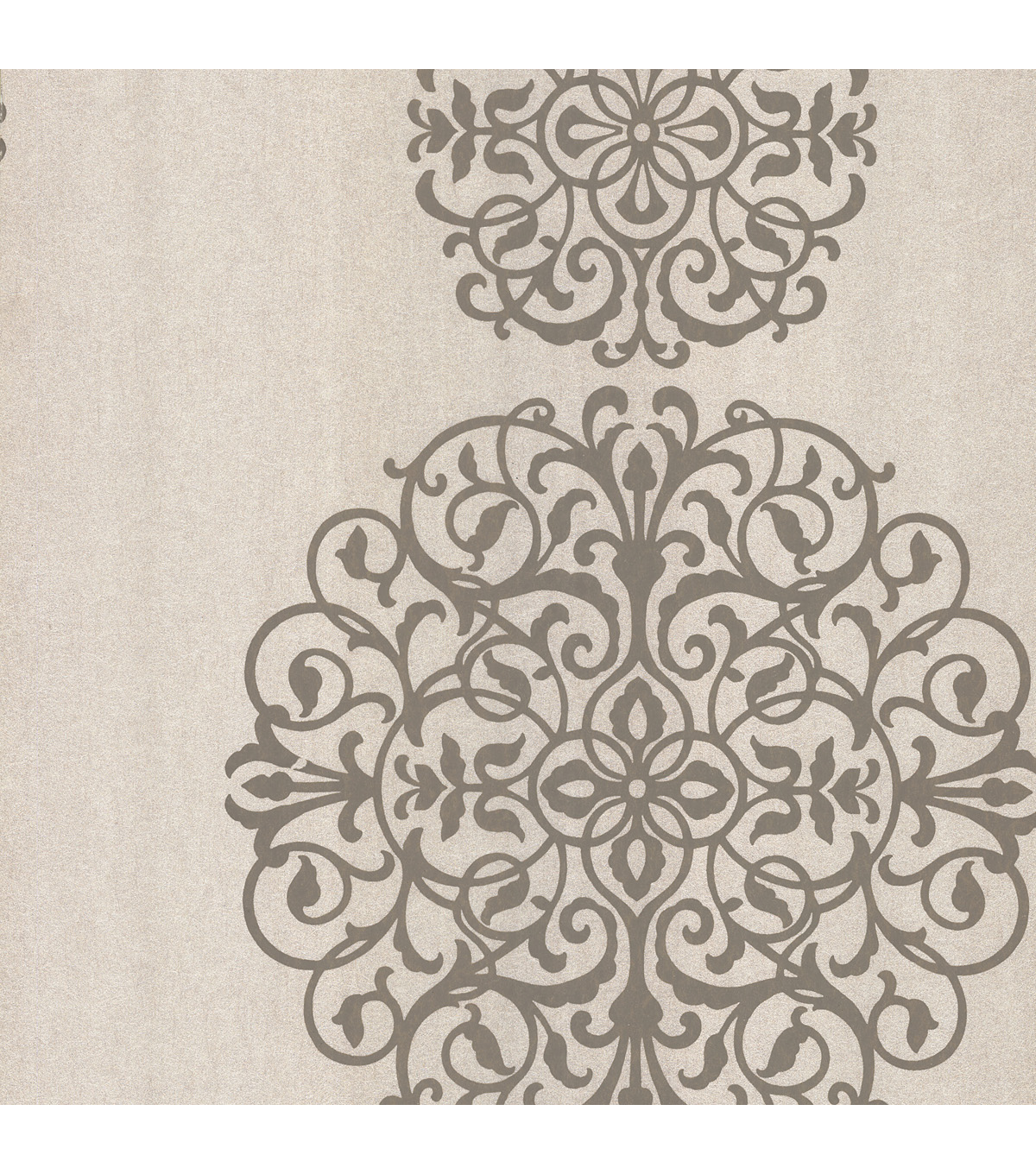 Iman Taupe Medallion Wallpaper