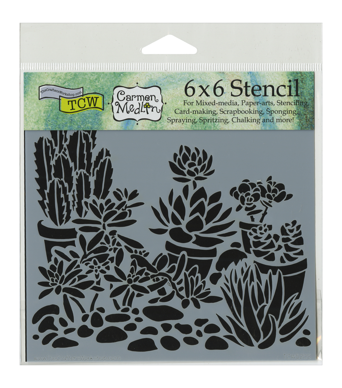 Crafter's Workshop Desert Garden Template 6''x6''