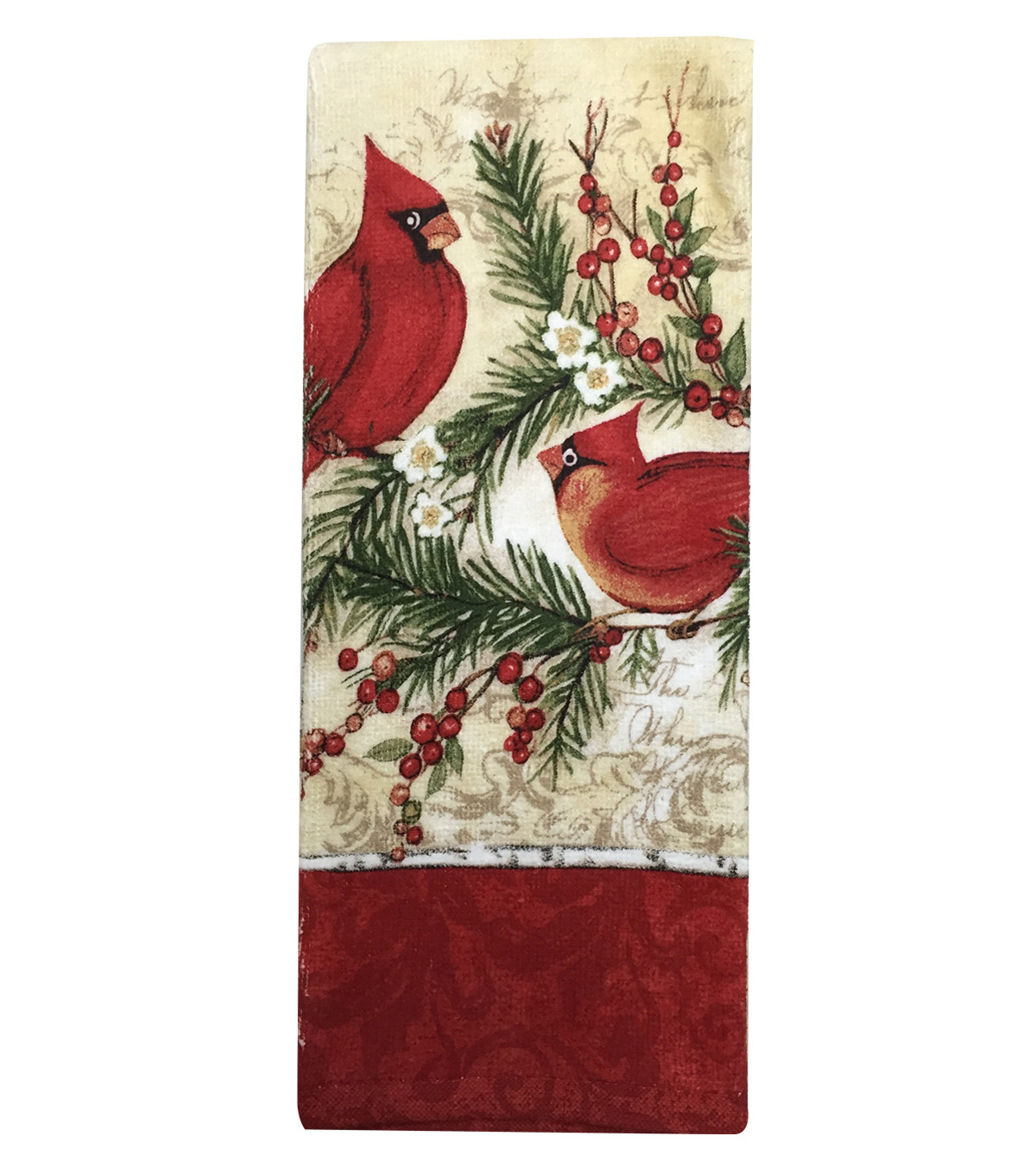 Maker's Holiday Terry Towel-Cardinal