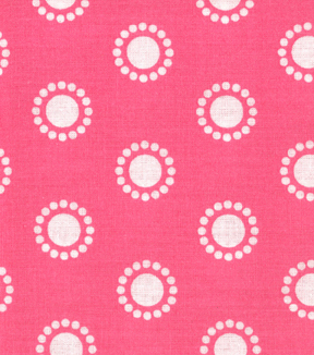Quilter's Showcase™ Cotton Fabric-Circles Pink/White