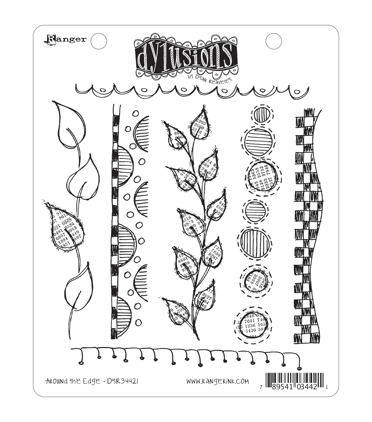 Dyan Reaveley\u0027s Dylusions Cling Stamp Collection-Around The Edge