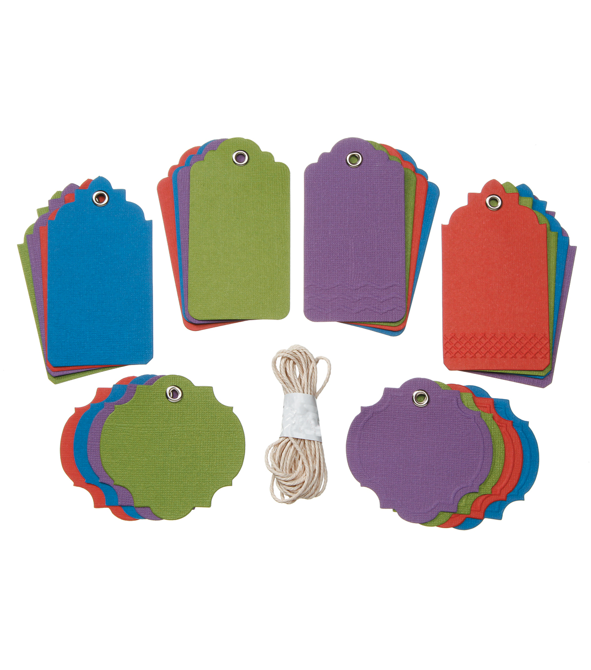Core\u0027dinations Tags:  Darks Assortment with String; 24 pack