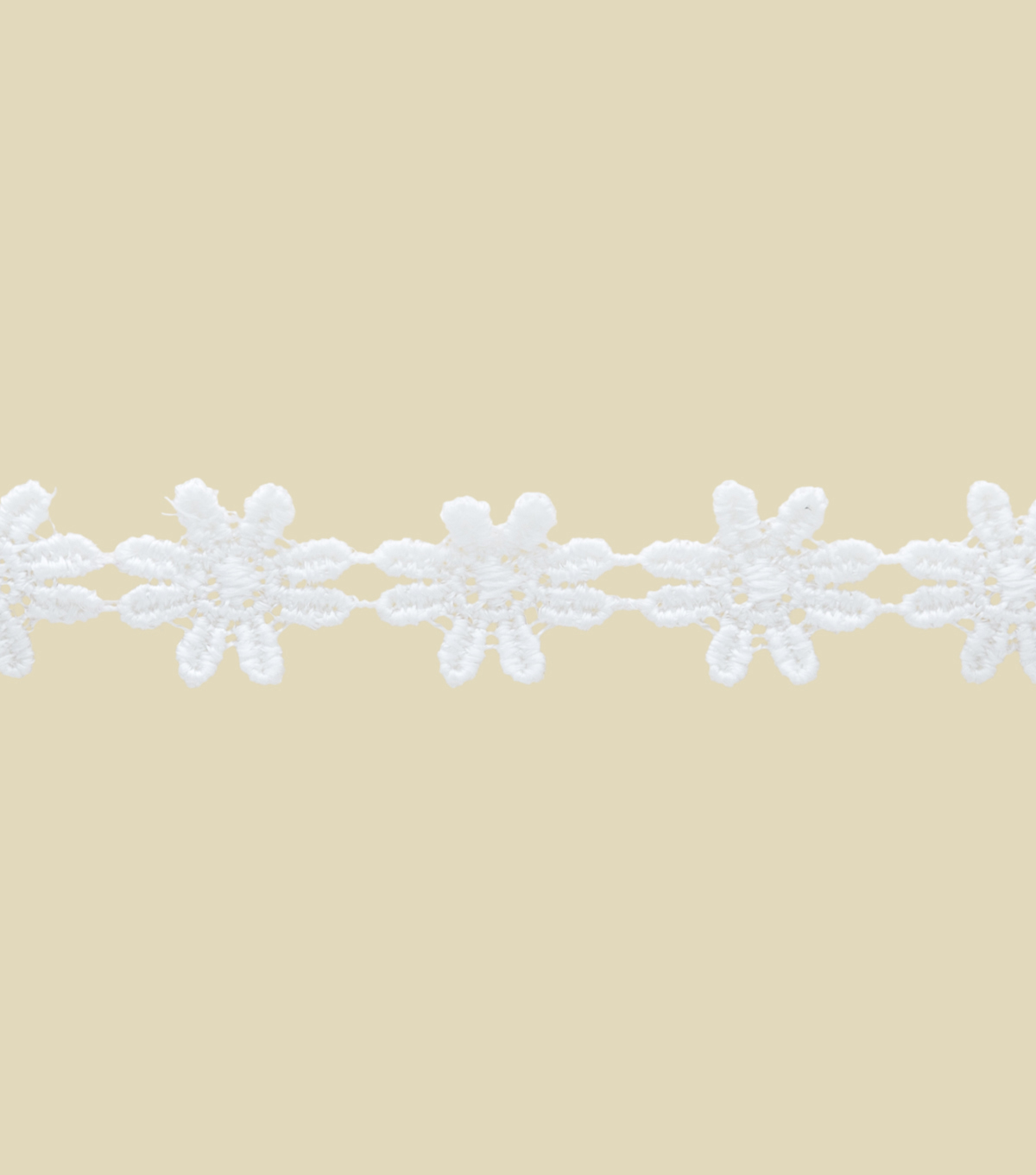 Daisy Chain 6Ft White Apparel Trim