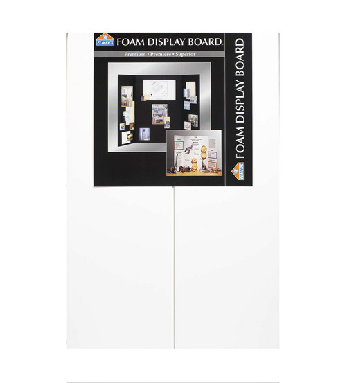 Elmer\u0027s 36\u0022x48\u0022 Foam Tri-Fold Display Board-1PK/White
