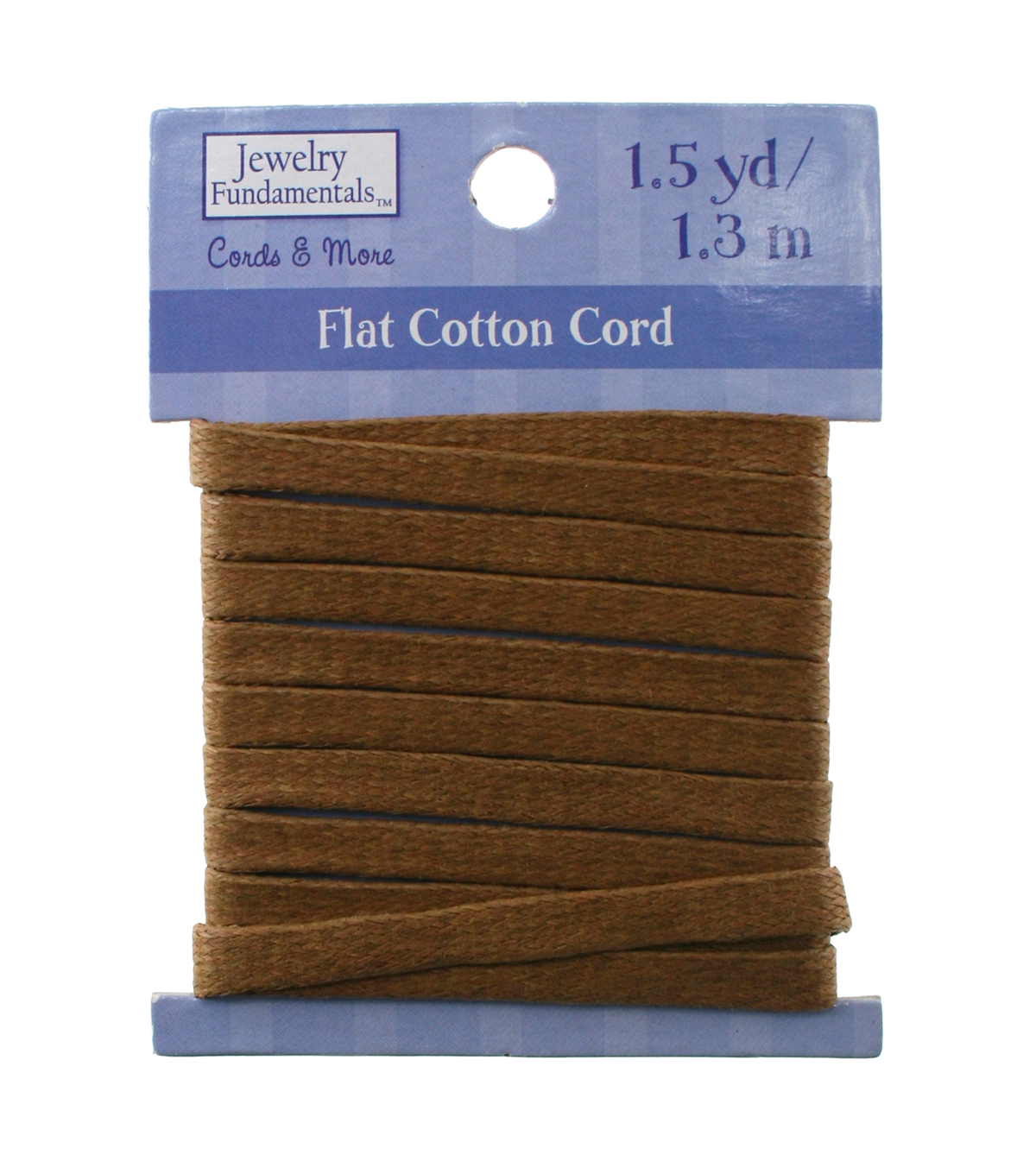 Jewelry Fundamentals Cords & More Flat Cotton Cord - Lt. Brown