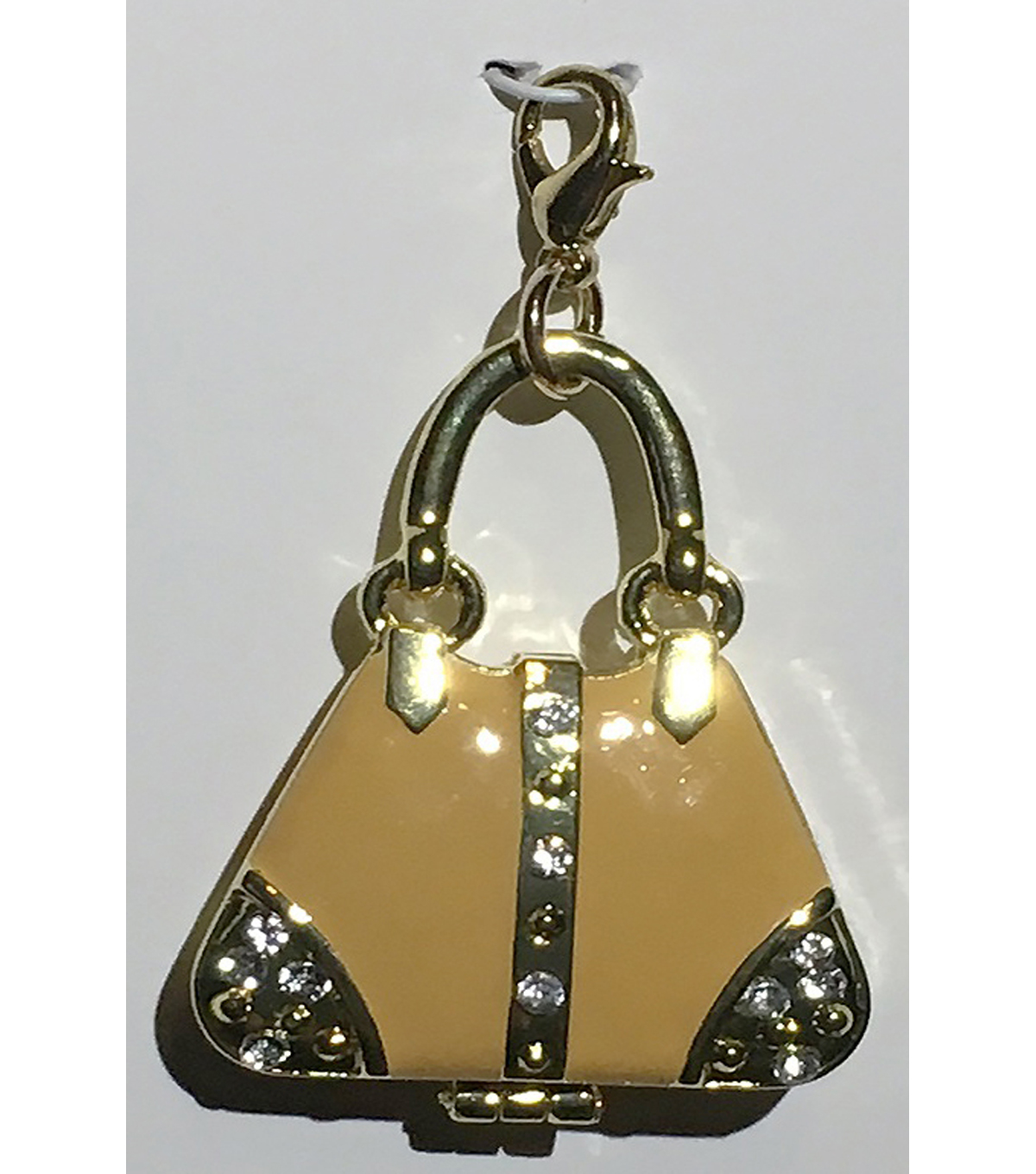 Clip on Purse-Tan with Gold