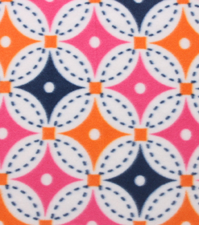 Blizzard Fleece Fabric 59\u0022-Bright Circle Geo