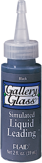 Gallery Glass Liquid Leading 2oz-Black