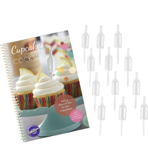 Wilton® Cupcakes are my Cocktails Recipe Book & Shot Top Flavor Infusers