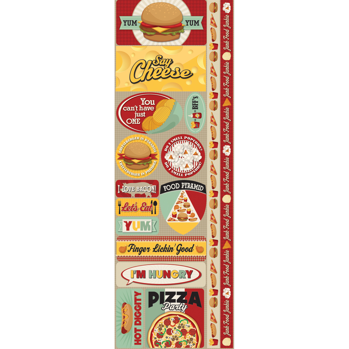 Reminisce Signature Series Cardstock Combo Sticker Fast Food