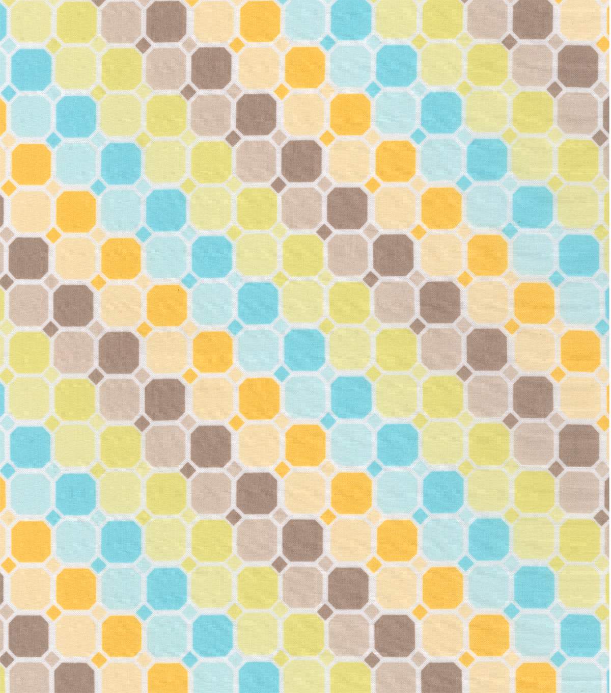 Nursery Fabric - Mod Hoot Tiles Multi Cotton