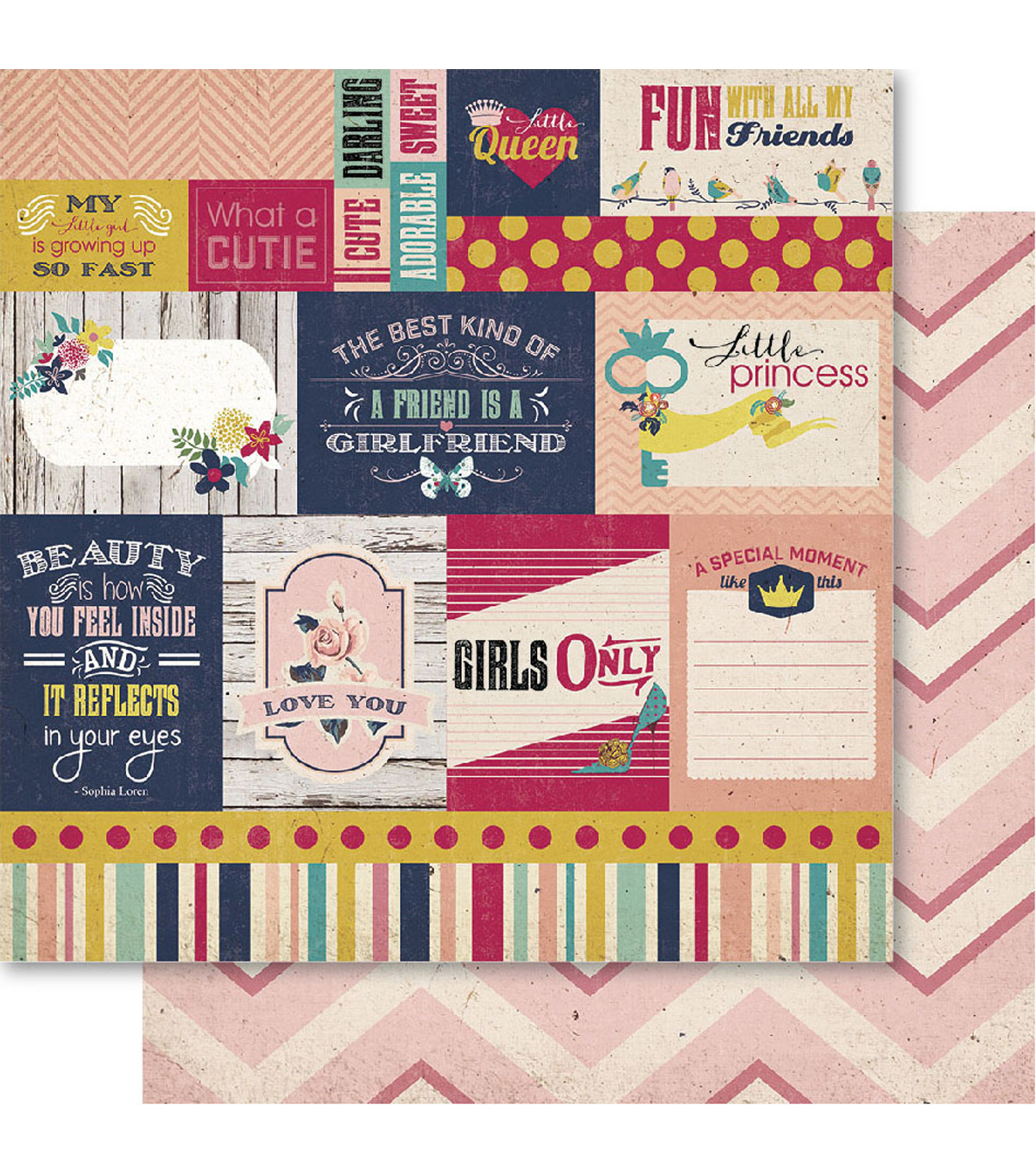 Bella! Girl Double-Sided Cardstock-Cutie Pie