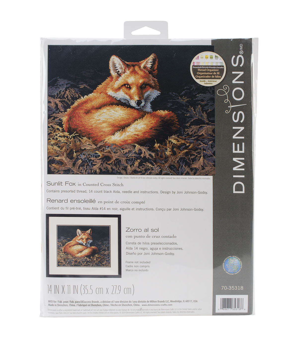 Dimensions Sunlit Fox Counted Cross Stitch Kit