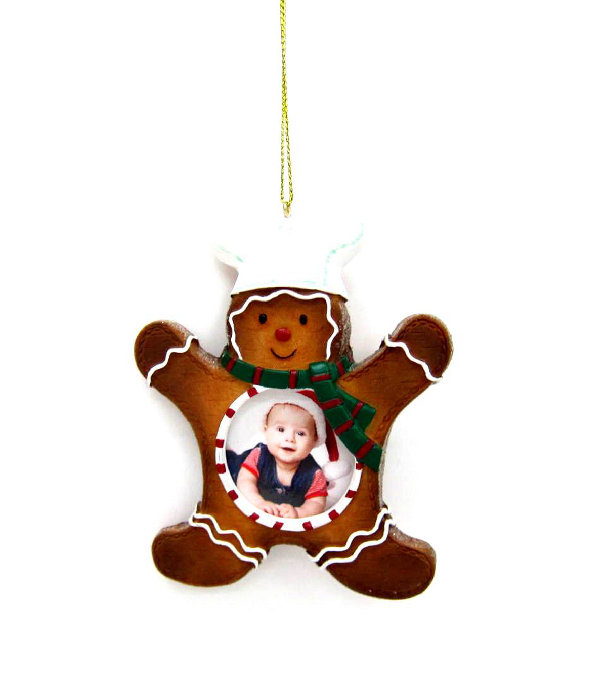 Maker\u0027s Holiday Gingerbread Frame Ornament