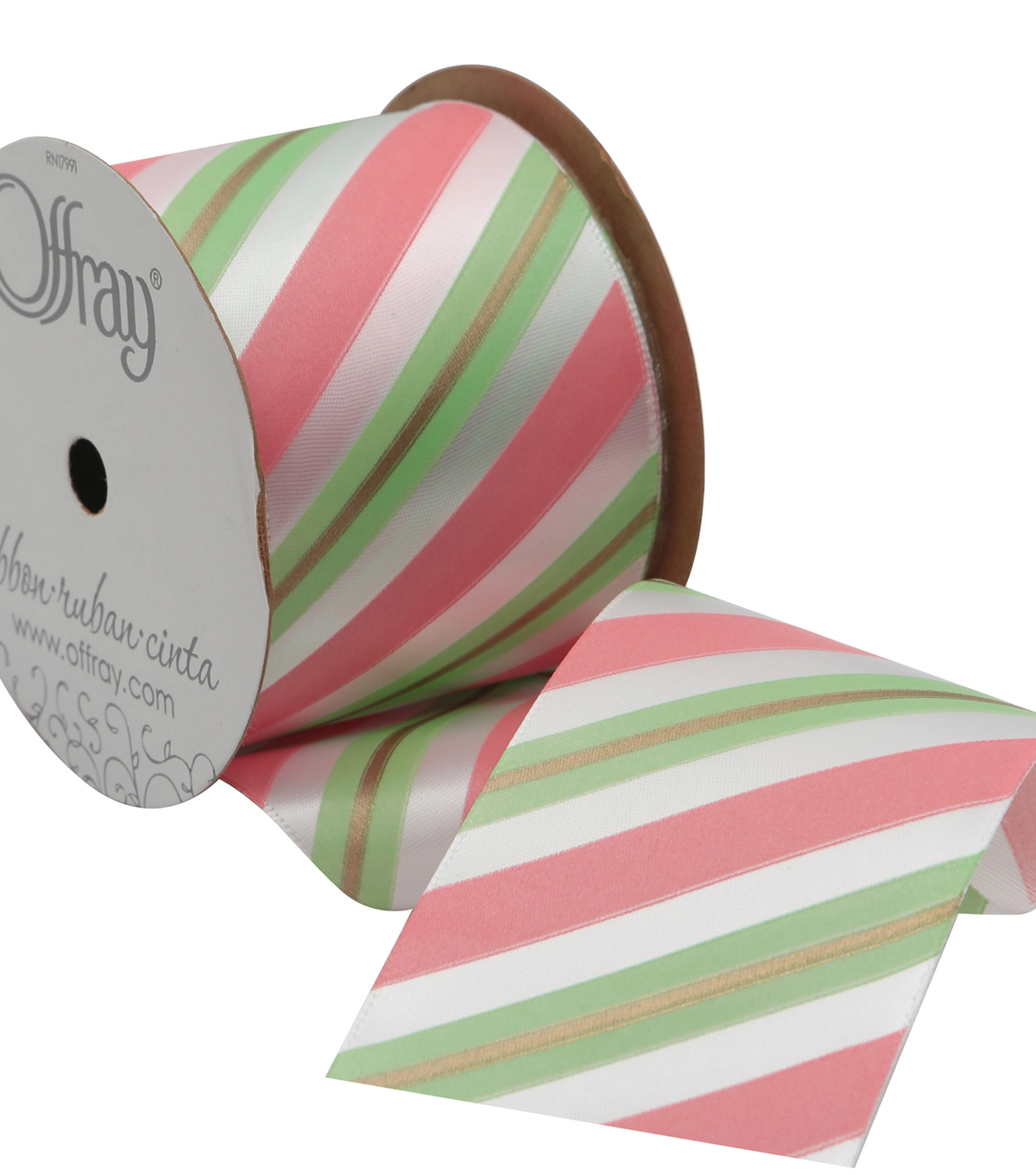 2 And One Qtr Diagonal Stripe 9 Ft Ribbon