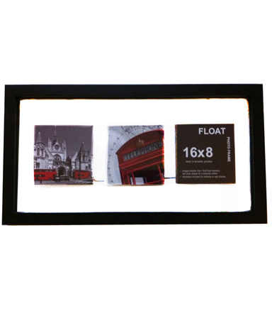 Wood Float Wall Frame 8x16-Black