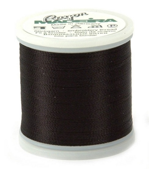 Madeira Rayon Thread Refills Black/White/Gray