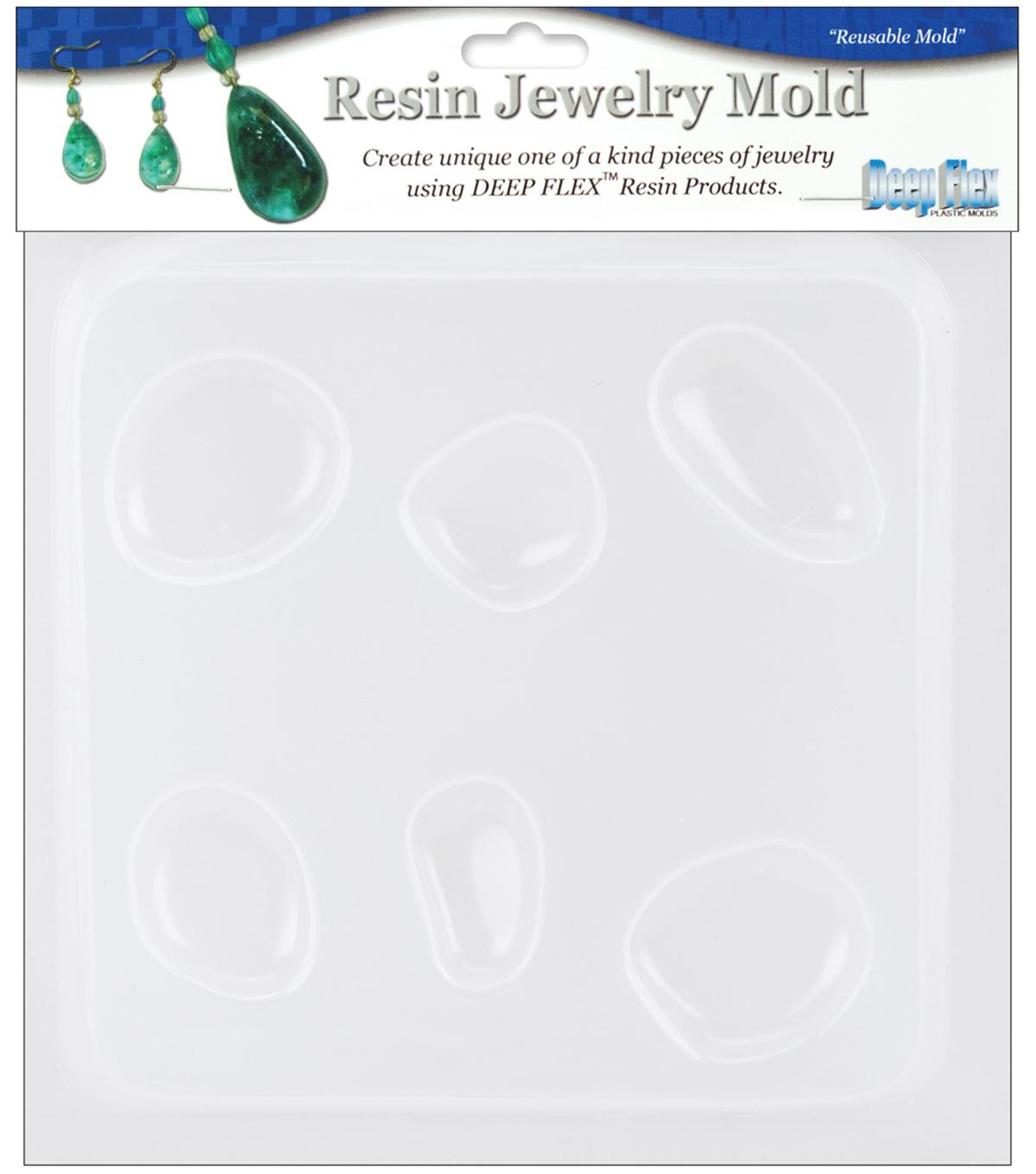 Yaley Resin Jewelry Reusable Plastic Mold 6-1/2\u0022x7\u0022-Natural Stones5Shps
