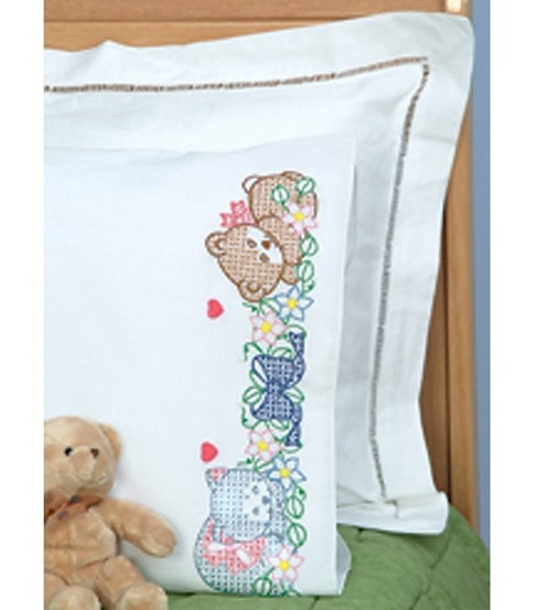 Jack Dempsey Children\u0027s Stamped Pillowcase-Now I Lay Me Down To Sleep