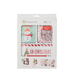 Becky Higgins Project Life 100 Pack Value Kit-Holly Jolly