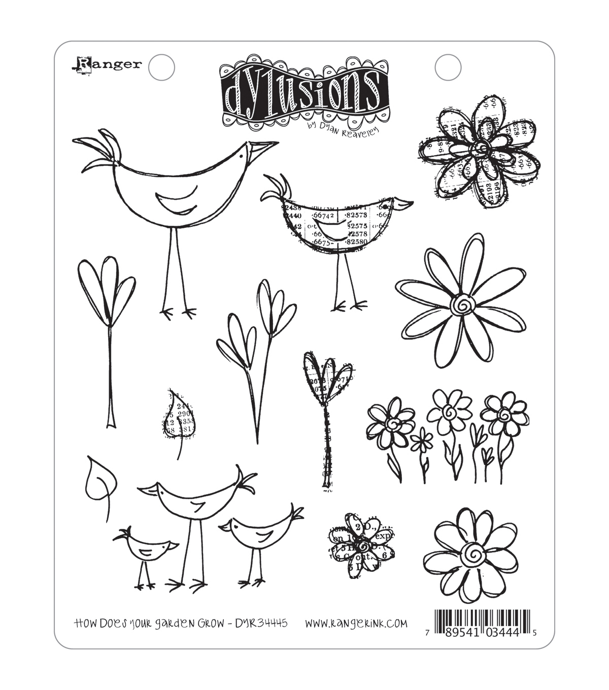 Dyan Reaveley\u0027s Dylusions Cling Stamp Collection-How Does Your Garden Grow