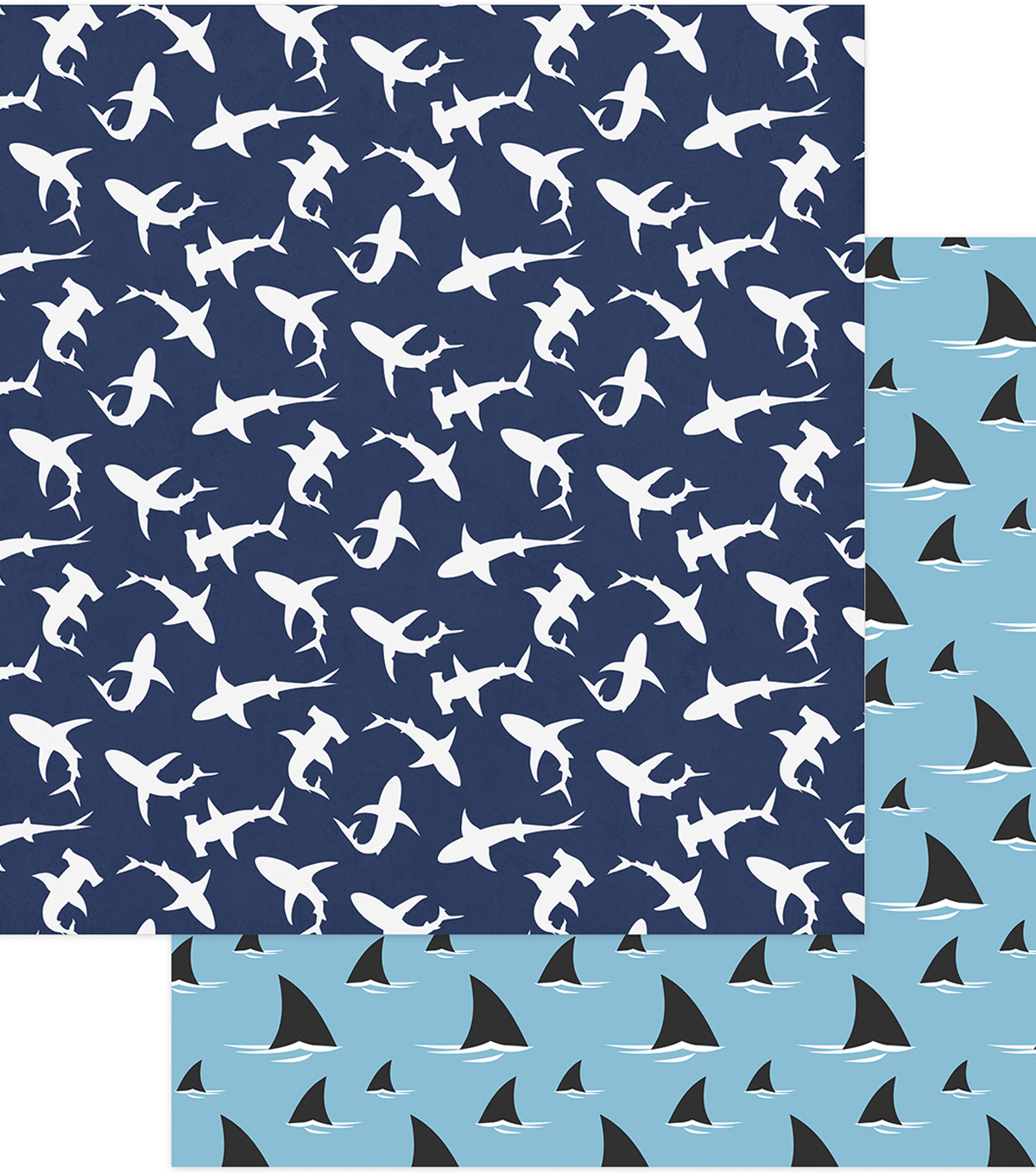 Shark Attack Double-Sided Cardstock 12\u0022X12\u0022-Shark Bait