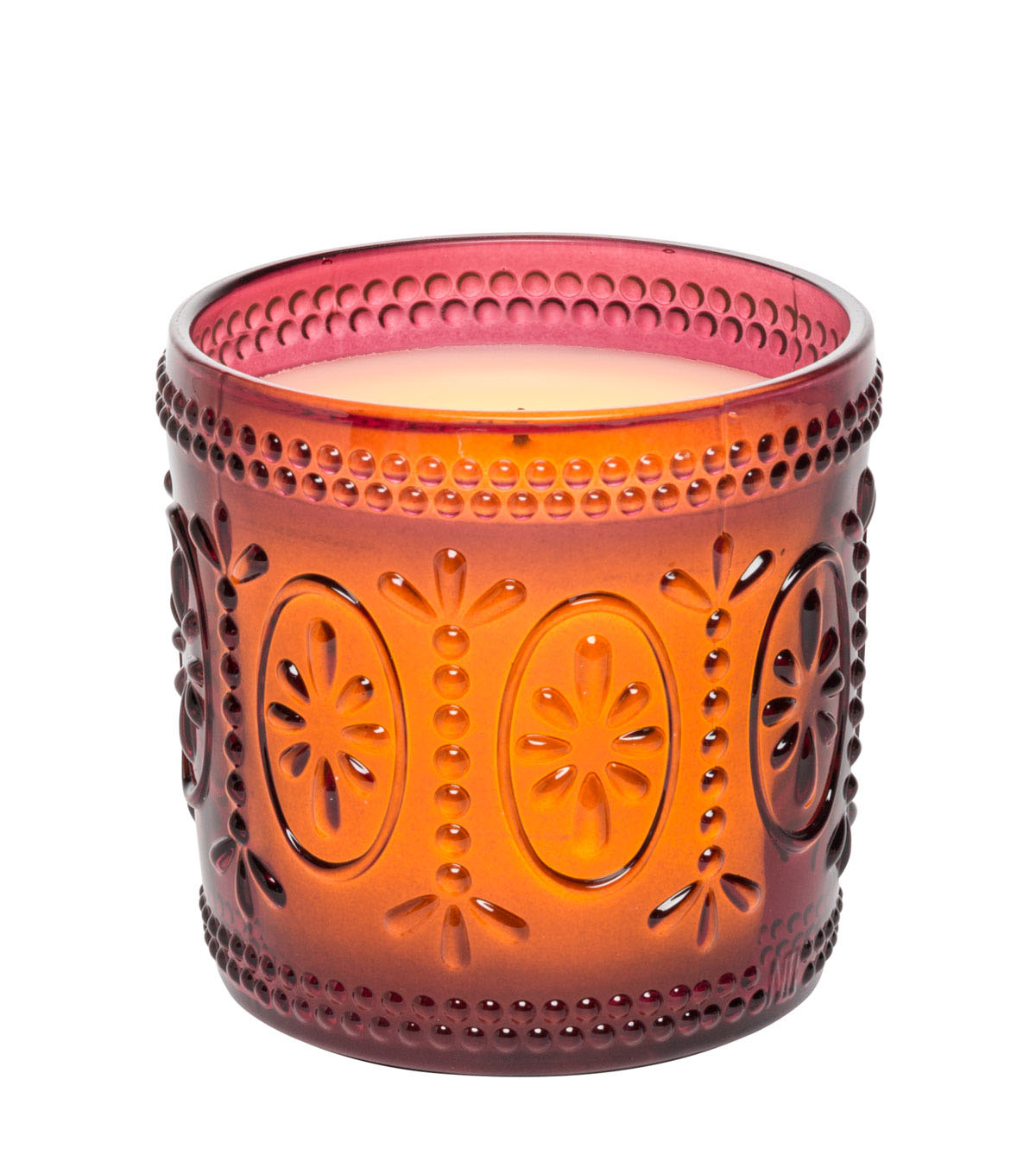 Hudson 43™ Candle & Light Collection 3X3 Rose Amelia Glass Lumry With 5 Hour